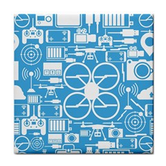 Drones Registration Equipment Game Circle Blue White Focus Tile Coasters by Mariart