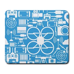 Drones Registration Equipment Game Circle Blue White Focus Large Mousepads by Mariart