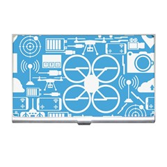 Drones Registration Equipment Game Circle Blue White Focus Business Card Holders by Mariart