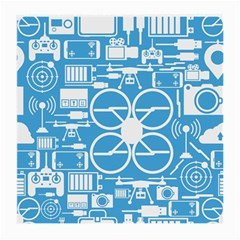 Drones Registration Equipment Game Circle Blue White Focus Medium Glasses Cloth by Mariart