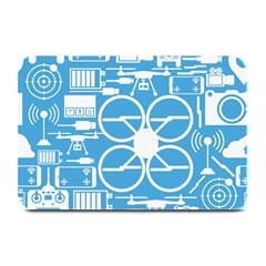 Drones Registration Equipment Game Circle Blue White Focus Plate Mats by Mariart