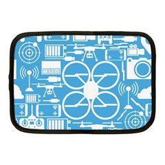Drones Registration Equipment Game Circle Blue White Focus Netbook Case (medium)  by Mariart