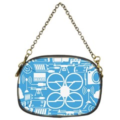 Drones Registration Equipment Game Circle Blue White Focus Chain Purses (two Sides)  by Mariart