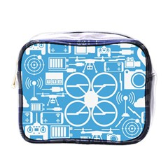 Drones Registration Equipment Game Circle Blue White Focus Mini Toiletries Bags by Mariart