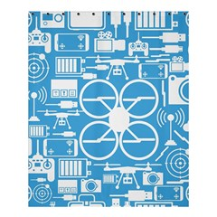 Drones Registration Equipment Game Circle Blue White Focus Shower Curtain 60  X 72  (medium)  by Mariart