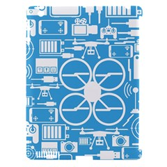 Drones Registration Equipment Game Circle Blue White Focus Apple Ipad 3/4 Hardshell Case (compatible With Smart Cover) by Mariart