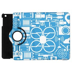 Drones Registration Equipment Game Circle Blue White Focus Apple Ipad Mini Flip 360 Case by Mariart
