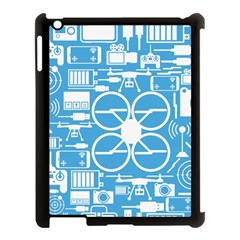 Drones Registration Equipment Game Circle Blue White Focus Apple Ipad 3/4 Case (black) by Mariart