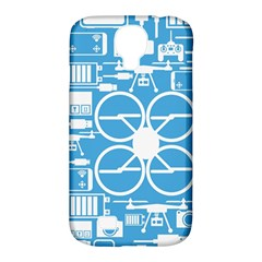 Drones Registration Equipment Game Circle Blue White Focus Samsung Galaxy S4 Classic Hardshell Case (pc+silicone) by Mariart
