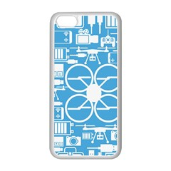 Drones Registration Equipment Game Circle Blue White Focus Apple Iphone 5c Seamless Case (white) by Mariart