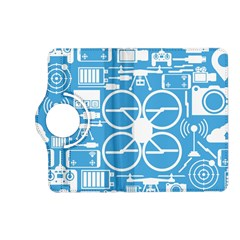Drones Registration Equipment Game Circle Blue White Focus Kindle Fire Hd (2013) Flip 360 Case by Mariart