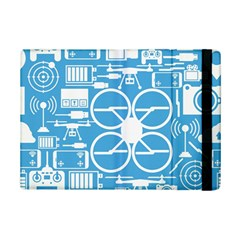 Drones Registration Equipment Game Circle Blue White Focus Ipad Mini 2 Flip Cases by Mariart