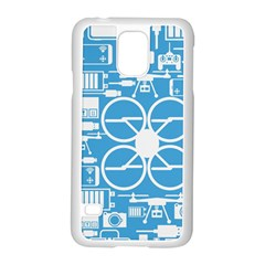 Drones Registration Equipment Game Circle Blue White Focus Samsung Galaxy S5 Case (white) by Mariart