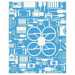 Drones Registration Equipment Game Circle Blue White Focus Drawstring Bag (small) by Mariart