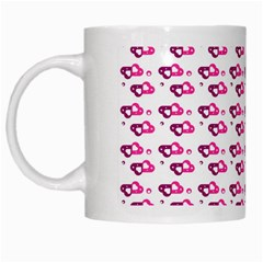 Heart Love Pink Purple White Mugs by Mariart