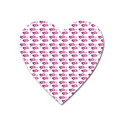 Heart Love Pink Purple Heart Magnet by Mariart