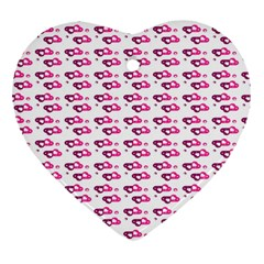 Heart Love Pink Purple Heart Ornament (two Sides) by Mariart
