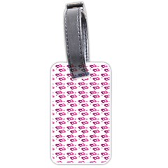 Heart Love Pink Purple Luggage Tags (one Side)  by Mariart