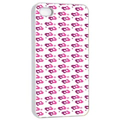 Heart Love Pink Purple Apple Iphone 4/4s Seamless Case (white) by Mariart