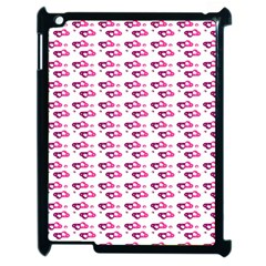Heart Love Pink Purple Apple Ipad 2 Case (black) by Mariart