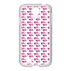 Heart Love Pink Purple Samsung Galaxy S4 I9500/ I9505 Case (white)