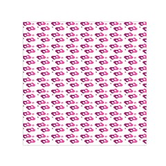 Heart Love Pink Purple Small Satin Scarf (square) by Mariart