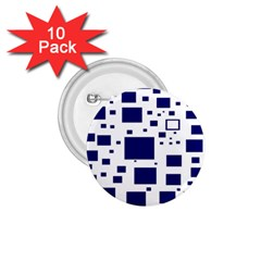 Illustrated Blue Squares 1 75  Buttons (10 Pack) by Mariart
