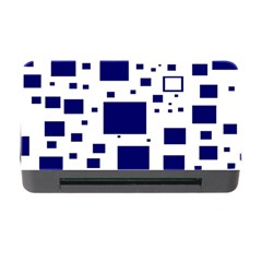 Illustrated Blue Squares Memory Card Reader With Cf by Mariart