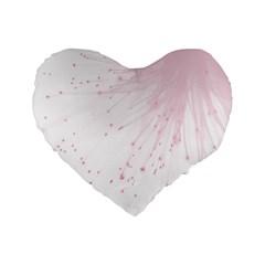 Big Bang Standard 16  Premium Flano Heart Shape Cushions by ValentinaDesign