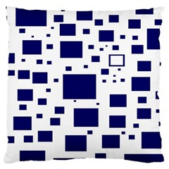 Illustrated Blue Squares Large Cushion Case (two Sides) by Mariart