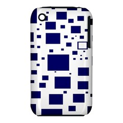 Illustrated Blue Squares Iphone 3s/3gs by Mariart