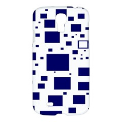 Illustrated Blue Squares Samsung Galaxy S4 I9500/i9505 Hardshell Case by Mariart