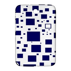 Illustrated Blue Squares Samsung Galaxy Note 8 0 N5100 Hardshell Case  by Mariart