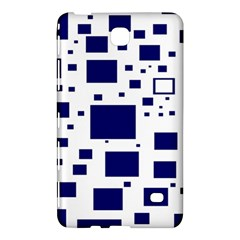 Illustrated Blue Squares Samsung Galaxy Tab 4 (8 ) Hardshell Case  by Mariart