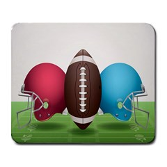 Helmet Ball Football America Sport Red Brown Blue Green Large Mousepads by Mariart