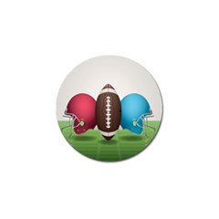 Helmet Ball Football America Sport Red Brown Blue Green Golf Ball Marker (4 Pack) by Mariart