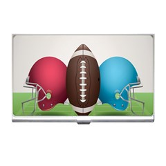 Helmet Ball Football America Sport Red Brown Blue Green Business Card Holders by Mariart