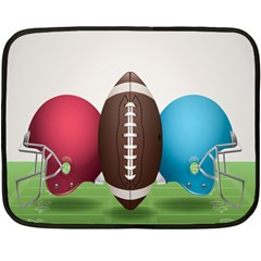 Helmet Ball Football America Sport Red Brown Blue Green Double Sided Fleece Blanket (mini)  by Mariart