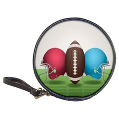 Helmet Ball Football America Sport Red Brown Blue Green Classic 20 Cd Wallets by Mariart