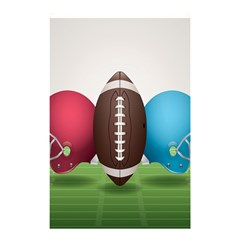 Helmet Ball Football America Sport Red Brown Blue Green Shower Curtain 48  X 72  (small)  by Mariart