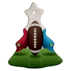 Helmet Ball Football America Sport Red Brown Blue Green Christmas Tree Ornament (two Sides) by Mariart
