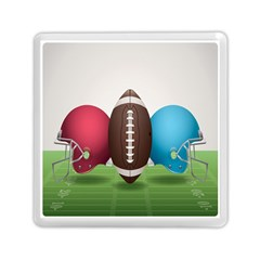 Helmet Ball Football America Sport Red Brown Blue Green Memory Card Reader (square)  by Mariart