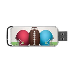 Helmet Ball Football America Sport Red Brown Blue Green Portable Usb Flash (two Sides) by Mariart