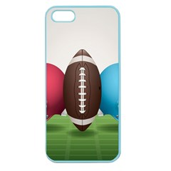 Helmet Ball Football America Sport Red Brown Blue Green Apple Seamless Iphone 5 Case (color) by Mariart