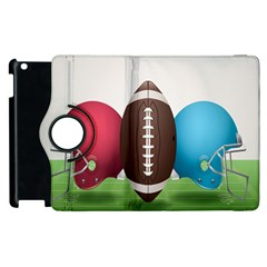 Helmet Ball Football America Sport Red Brown Blue Green Apple Ipad 2 Flip 360 Case by Mariart