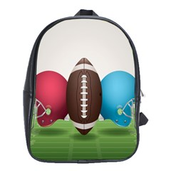 Helmet Ball Football America Sport Red Brown Blue Green School Bags (xl)  by Mariart