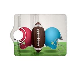 Helmet Ball Football America Sport Red Brown Blue Green Kindle Fire Hd (2013) Flip 360 Case by Mariart