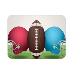Helmet Ball Football America Sport Red Brown Blue Green Double Sided Flano Blanket (mini)  by Mariart