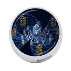 Fractal Balls Flying Ultra Space Circle Round Line Light Blue Sky Gold 4 Port Usb Hub (two Sides)  by Mariart