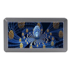 Fractal Balls Flying Ultra Space Circle Round Line Light Blue Sky Gold Memory Card Reader (mini) by Mariart